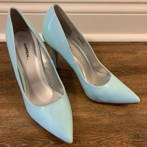 Baby blue pumps **worn once**